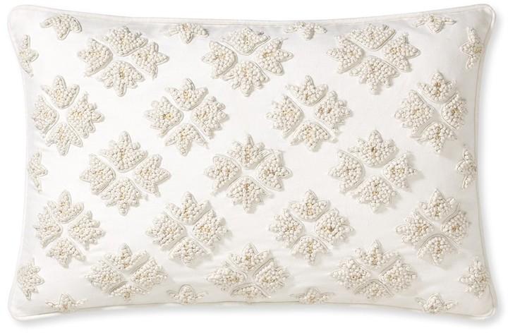 Williams-Sonoma Diamond Lattice Intricate Beadwork Pillow Cover