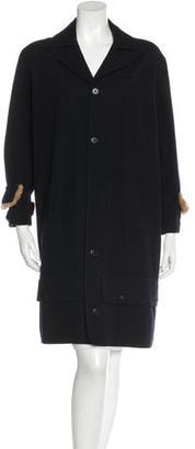 Yohji Yamamoto Fur-Trimmed Wool Coat $275 thestylecure.com