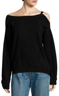 Vince Cashmere Off-the-Shoulder Tunic