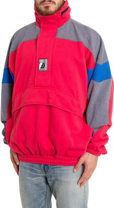 Balenciaga 80's Style Felt Sweater With Kangaroo Pocket