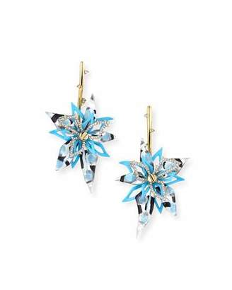 Alexis Bittar Poppy-Painted Lucite Flower Drop Earrings $395 thestylecure.com