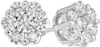 LeVian Suzy Diamonds Suzy 14K 0.25 Ct. Tw. Diamond Cluster Studs
