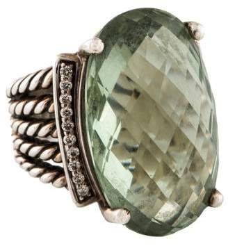 David Yurman Prasiolite & Diamond Wheaton Ring
