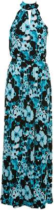 MICHAEL Michael Kors Floral Print Halterneck Maxi Dress