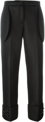 Simone Rocha embellished straight leg trousers