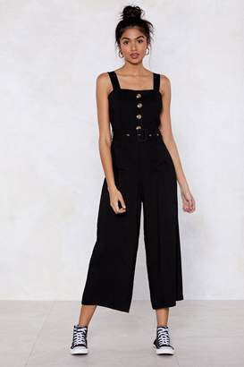 Nasty Gal Bring It Button Jumpsuit
