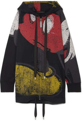 Marc Jacobs Mickey Printed Cotton-blend Hooded Top - Black
