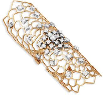 Staurino Moresca Armor 18k Rose Gold & Diamond Long Hinged Ring