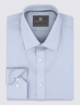 M&S CollectionMarks and Spencer Pure Cotton Non-Iron Regular Fit Shirt