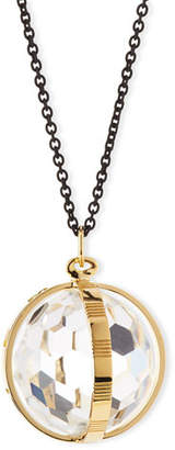 Monica Rich Kosann 18K Gold & Black Steel Carpe Diem Crystal Pendant Necklace