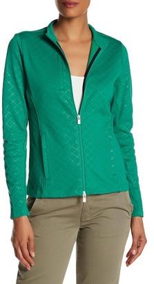 Peter Millar Diamond Laser-Cut Full Zip Layer Jacket $119.50 thestylecure.com