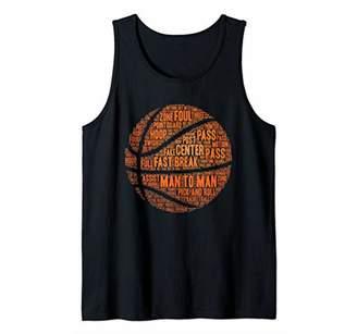 Basketball Terms Motivational Word Cloud Tank Top