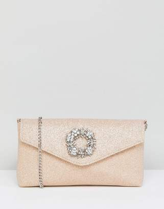 Dune Occasion Clutch with Embellishment Detail
