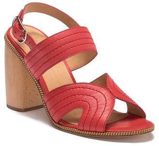 Joie Aforleen Leather Slingback Strap Heeled Sandal
