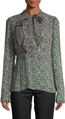 Derek Lam 10 Crosby Derek Lam Floral Tie Blouse