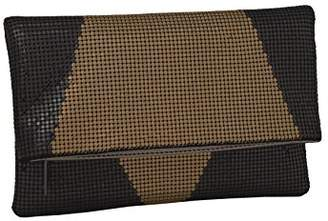 Whiting & Davis Colorblock Foldover 1-4175 Clutch