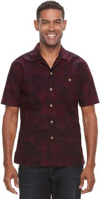 Croft & Barrow Men's Short Sleeve Crosshatch Button-Down Shirt
