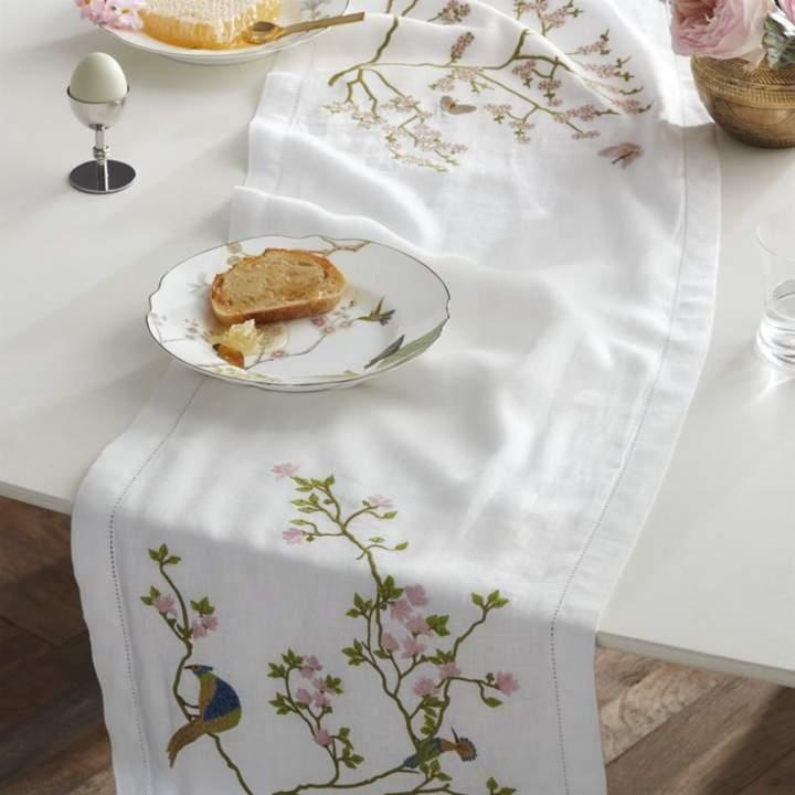 Cb2 Belsize Park Linen Table Runner 90