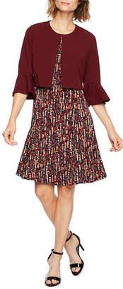 Perceptions 3/4 Bell Sleeve Jacket Dress