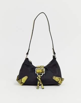 Asos Design DESIGN 90s shoulder bag with neon snake detail