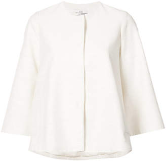 Co collarless button jacket