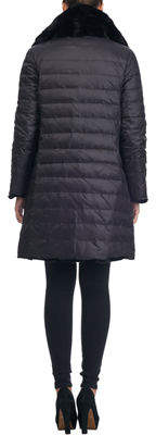 Gorski Fur-Collar Reversible Stroller Coat