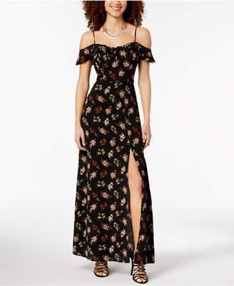 81df1b4d31a B. Darlin Juniors  Off-the-Shoulder Floral Maxi Dress