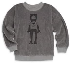 Mini Rodini Baby Girl's, Little Girl's & Girl's Frog Terry Sweatshirt