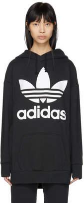 adidas Black Trefoil Oversized Hoodie