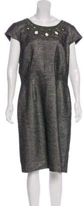 Tahari Arthur S. Levine Embellished Randy Dress