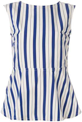 Sofie D'hoore Benedict striped peplum top