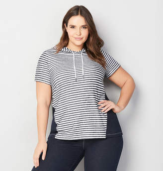 Avenue Striped French Terry Active Hoodie