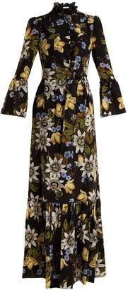 Erdem Stephanie floral-print silk crepe de Chine gown