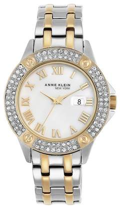 Anne Klein Women's Swarovski Crystal Two-Tone Watch, 33mm