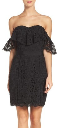 Women's Adelyn Rae Strapless Lace Dress $118 thestylecure.com