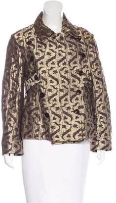 Dries Van Noten Brocade Double-Breasted Jacket