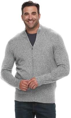 Croft & Barrow Big & Tall Classic-Fit 7GG Super Soft Full-Zip Sweater