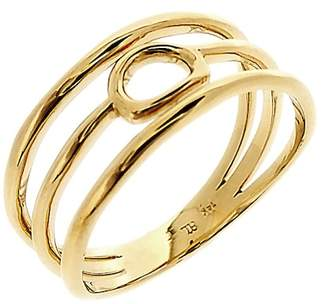 Bony Levy 14K Yellow Gold Organic Open Circle Triple Row Ring