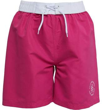 Board Angels Girls Plain Board Shorts Pink
