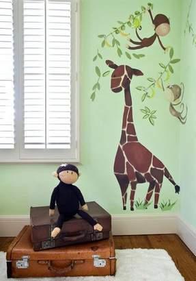 Oopsy Daisy Fine Art For Kids Giraffe & Monkeys Peel and Place Wall Art, 54 by 45