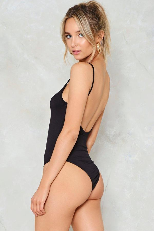 nastygal Scoop Back Bodysuit