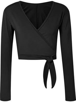 Ballet Beautiful - Stretch Wrap Top - Black