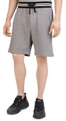 The Kooples Striped-Waist Fleece Shorts