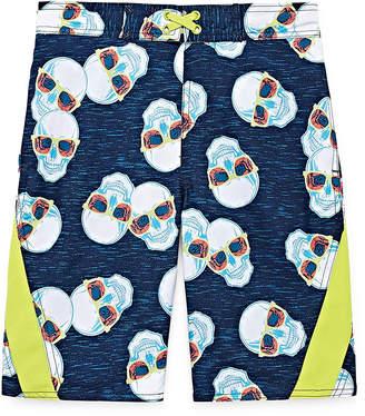 Arizona Skull Print Swim Trunk - Boys 4-20