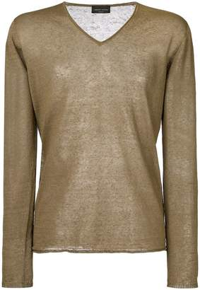Roberto Collina sheer V-neck sweater