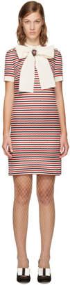Gucci Tricolor Striped Bow Dress