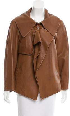 Donna Karan Asymmetrical Leather Jacket