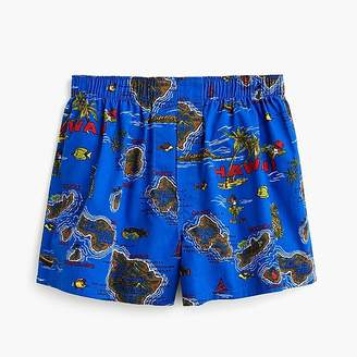 J.Crew Hawaii map print boxers