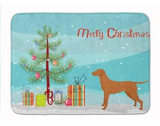 Caroline's Treasures Vizsla Christmas Tree Machine Washable Memory Foam Mat