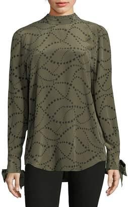 Equipment Women's Aurora Silk Star Blouse - Eclipse-br, Size l